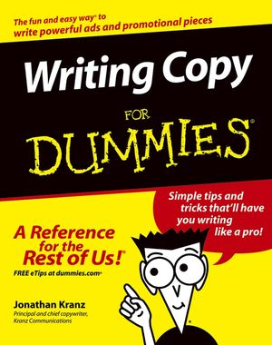 Writing Copy�For Dummies (1118069935) cover image