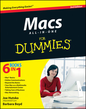 Macs All-in-One For Dummies, 3rd Edition (1118238435) cover image