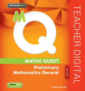 Maths Quest: Preliminary Mathematics General, eBookPLUS (Online Purchase), 4th Edition