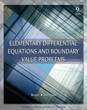 Elementary Differential Equations and Boundary Value Problems, 9th Edition International Student Version (0470398736) cover image