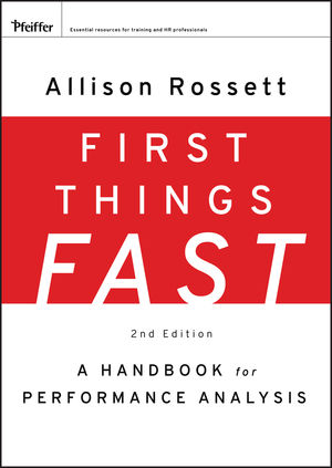 First Things Fast: A Handbook for Performance Analysis, 2nd Edition (0470478136) cover image