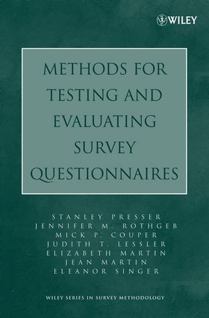 Methods for Testing and Evaluating Survey Questionnaires (0471654736) cover image