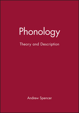 Phonology: Theory and Description (0631192336) cover image