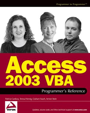 Access 2003 VBA Programmer
