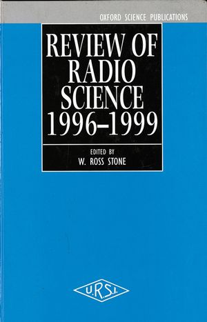 Review of Radio Science 1996-1999  (0780360036) cover image