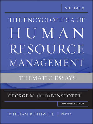 The Encyclopedia of Human Resource Management, Volume 3: Thematic Essays (1118189736) cover image