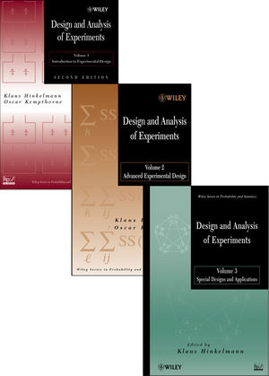 Design and Analysis of Experiments: Three Volume Set