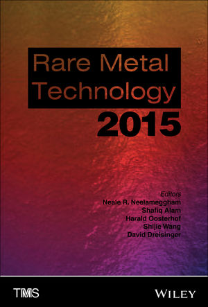 Rare Metal Technology 2015 (1119093236) cover image