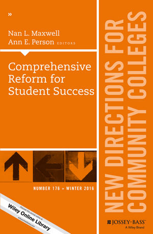 Comprehensive Reform for Student Success: New Directions for Community Colleges, Number 176 (1119348536) cover image