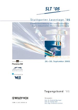 Stuttgarter Lasertage '05: Tagungsband