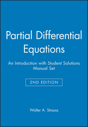 Partial Differential Equations: An Introduction 2e with Student Solutions Manual Set