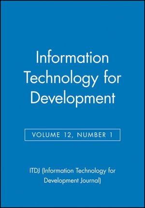 Information Technology for Development, Volume 12, Number 1