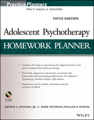 Adolescent Psychotherapy Homework Planner, 5th Edition