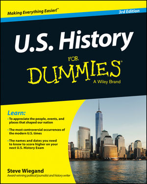 U.S. History For Dummies, 3rd Edition (1118889037) cover image