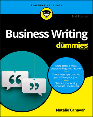 Business Writing For Dummies, 2nd Edition (1119369037) cover image
