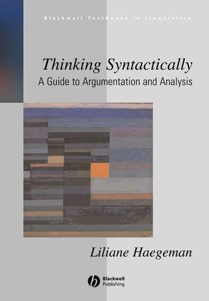 Thinking Syntactically: A Guide to Argumentation and Analysis (1405148837) cover image