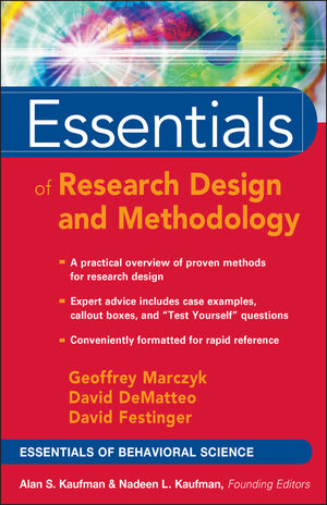 Essentials of Research Design and Methodology (0471470538) cover image