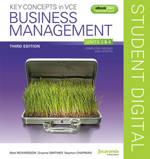 Key Concepts in VCE Business Management Units 3 & 4 3e eBookPLUS (Online Purchase)