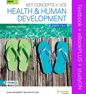 Key Concepts in VCE Health and Human Development: Units 1 & 2 & eBookPLUS + StudyOn, 4th Edition
