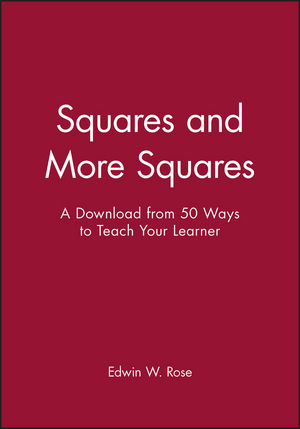 Squares and More Squares: A Download from 50 Ways to Teach Your Learner (0787973238) cover image