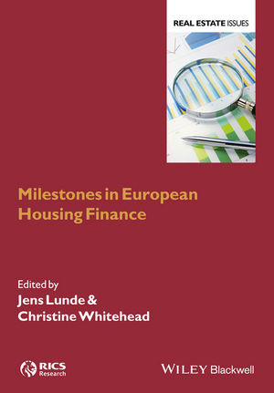 Milestones in European Housing Finance (1118929438) cover image