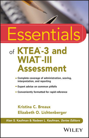 Essentials of KTEA-3 and WIAT-III Assessment (1119076838) cover image
