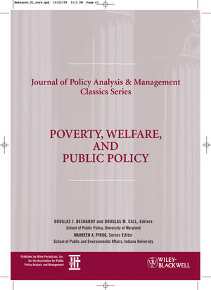 Poverty, Welfare, and Public Policy