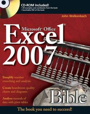 Book Cover Image for Excel 2007 Bible