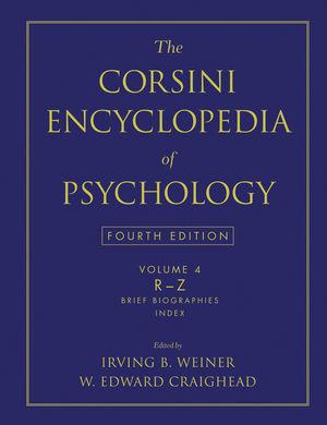 The Corsini Encyclopedia of Psychology, Volume 4, 4th Edition