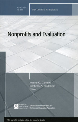 Nonprofits and Evaluation: New Directions for Evaluation, Number 119