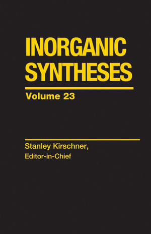 Inorganic Syntheses, Volume 23 (0471818739) cover image