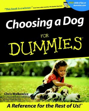 Choosing a Dog For Dummies (1118069439) cover image