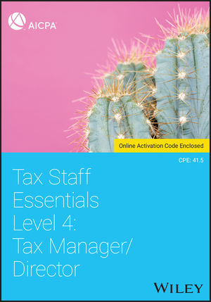 Tax Staff Essentials, Level 4: Tax Manager/Director