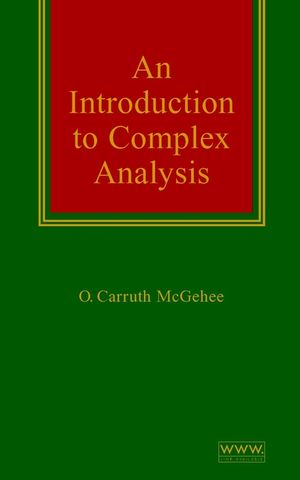 An Introduction to Complex Analysis (047133233X) cover image