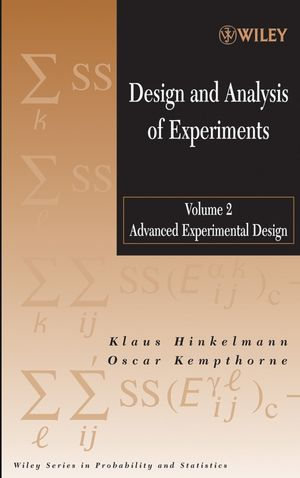 Design and Analysis of Experiments, Volume 2, Advanced Experimental Design (047170993X) cover image