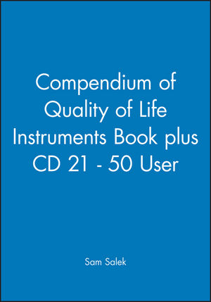Compendium of Quality of Life Instruments Book plus CD 21 - 50 User