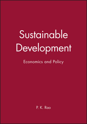 Sustainable Development: Economics and Policy