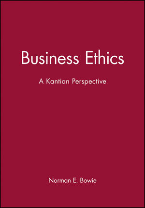 Business Ethics: A Kantian Perspective (063121173X) cover image