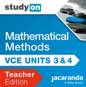 StudyOn VCE Mathematical Methods Cas Units 3 & 4 2E Teacher Edition (Online Purchase)
