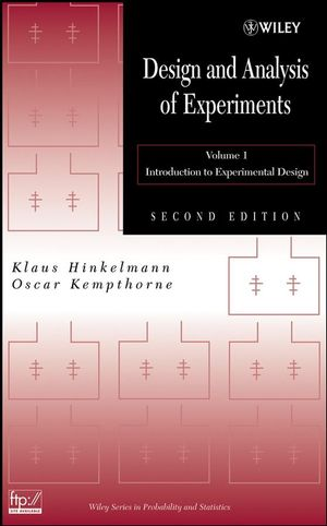 Design and Analysis of Experiments, Volume 1, Introduction to Experimental Design, 2nd Edition (0470191740) cover image