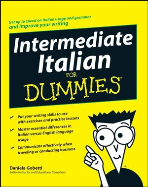 Intermediate Italian For Dummies (0470247940) cover image