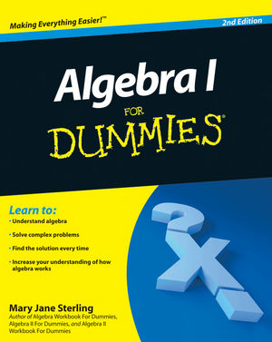 Algebra I For Dummies, 2nd Edition (0470559640) cover image