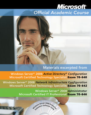 MOAC 70-642-646 Windows Server 2008 Administrator TXT with 70-642-646 Lab Manual Set (0470877340) cover image