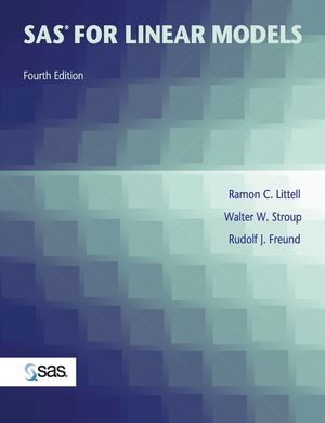 SAS for Linear Models, 4th Edition (0471221740) cover image