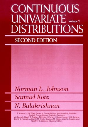 Continuous Univariate Distributions, Volume 2, 2nd Edition (0471584940) cover image