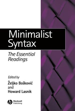 Minimalist Syntax: The Essential Readings (0631233040) cover image