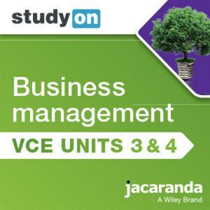 StudyOn VCE Business Management Units 3&4 3e (Online Purchase)