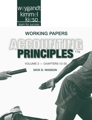 Working Papers Volume II to accompany Accounting Principles, 11th Edition (1118342240) cover image