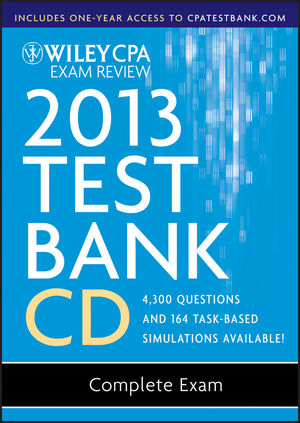Wiley CPA Exam Review 2013 Test Bank CD, Complete Set (1118363140) cover image