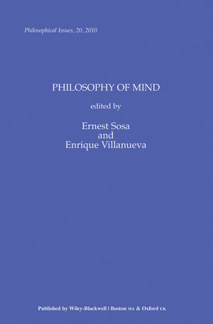 Philosophy of Mind, Volume 20
